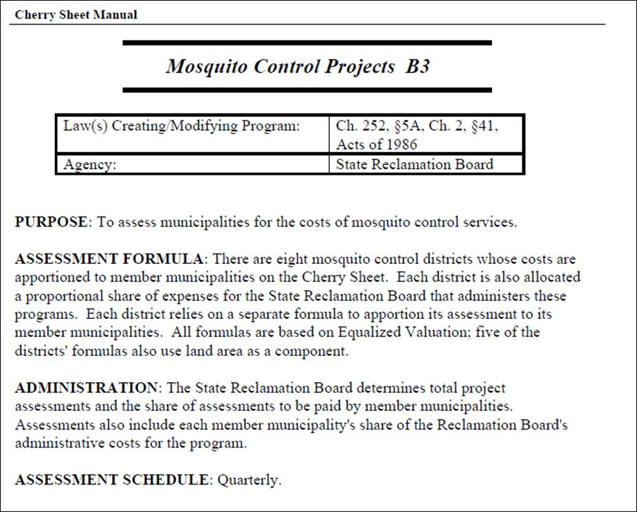 Mosquito Control Projects B3