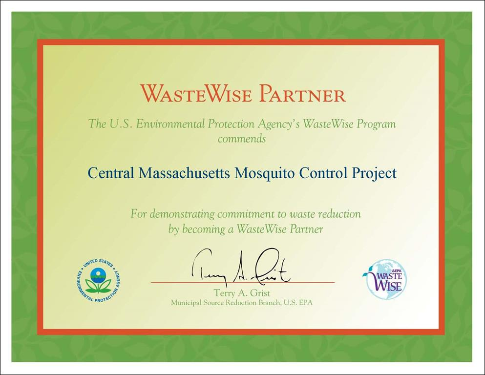 WasteWise Partner Certificate