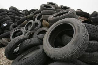 Used tire pile