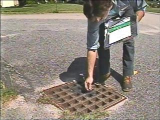 Treating a catch basin